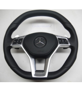 Mercedes C63 CLS63 SL63 E63 A45 AMG OEM flat top steering wheel